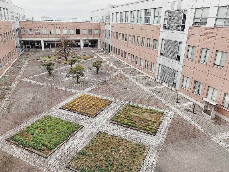 Khuôn viên sân Trường đại học Aizu