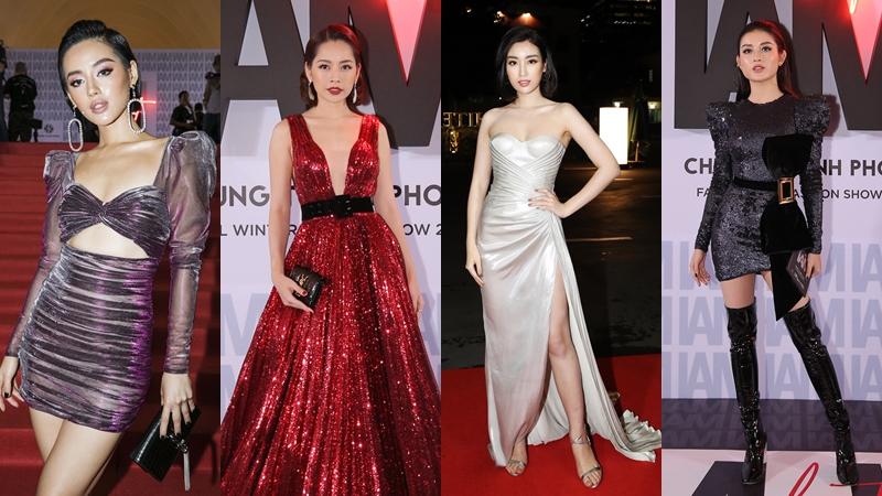 """Thảm đỏ """"dát"""" đầy mỹ nhân Việt, từ Hoa hậu đến hot-girl đình đám, hiếm ai làm được như Chung Thanh Phong"""