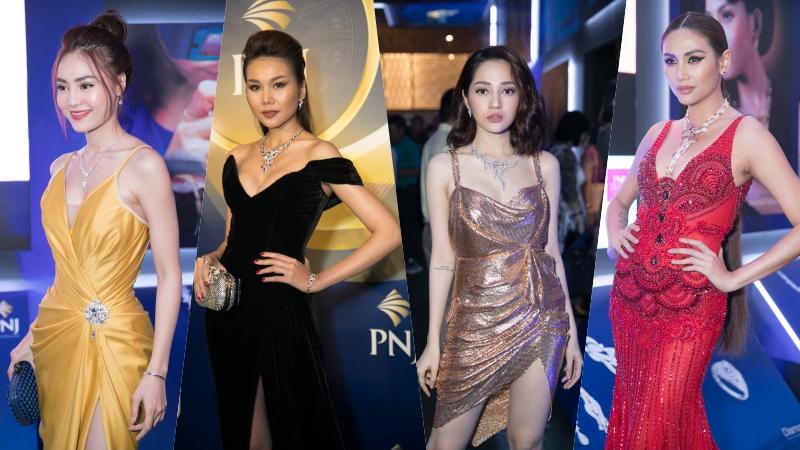 """Thanh Hằng, Võ Hoàng Yến """"đọ dáng"""" cùng Bảo Anh, Lan Ngọc,… trên thảm đỏ thời trang"""