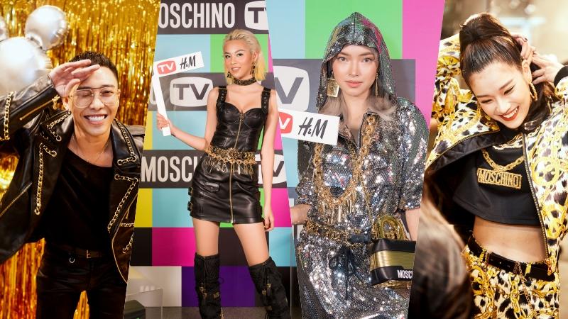 """Châu Bùi, Hoàng Ku, Hoàng Yến Chibi,… nô nức """"trẩy hội"""" tiệc ra mắt BST Moschino [tv] H&M"""