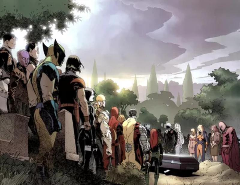 Các siêu anh hùng cùng đưa tiễn người cha vĩ đại của truyện tranh Marvel.