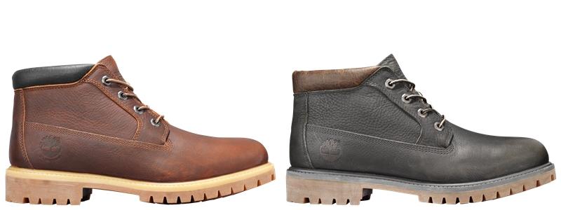 Các thiết kế giày chukka bằng chất liệu da trailblazer chống nước.