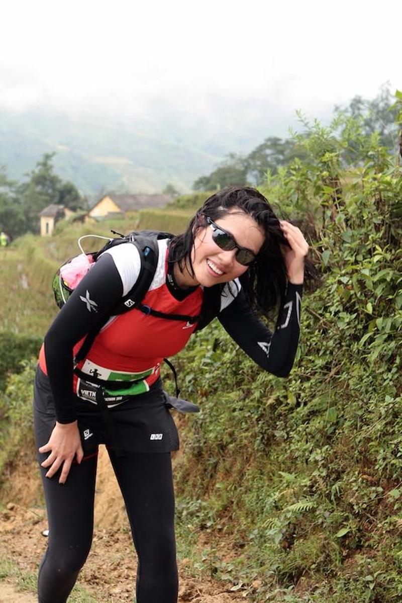 Hoàng My đã hoàn thành chặng đua 21km đường núi Sapa trong 6 giờ.