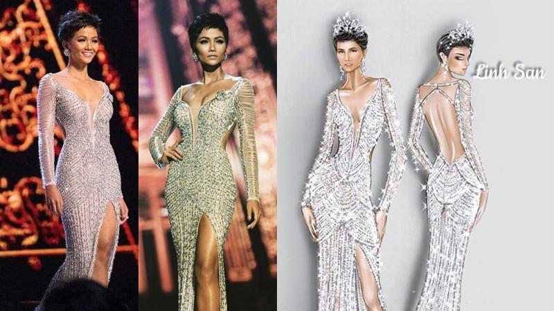"""Tiết lộ thú vị về bộ đầm """"cực phẩm"""" giúp H'Hen Niê làm nên lịch sử, lọt top 5 Miss Universe 2018"""