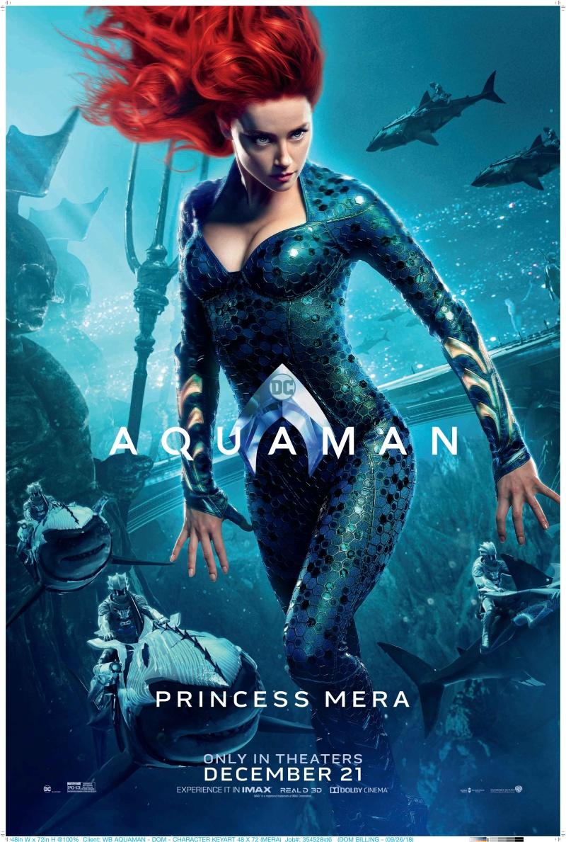 """Vai diễn Mera do nữ diễn viên Amber Heard thủ vai. Với vẻ đẹp quyến rũ và sắc vóc """"vạn người mê"""", Mera của Amber Heard được các fan của nhà DC kỳ vọng sẽ tạo nên được """"cơn sốt"""" không kém gì Gal Gadot đã làm được trong Wonder Woman (2017)."""