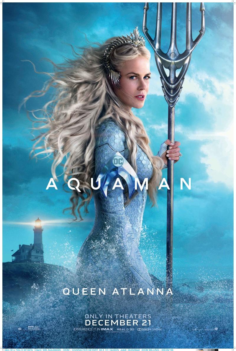 """Vai diễn Nữ hoàng Atlanna – mẹ của Arthur Curry đánh dấu lần thứ hai Nicole Kidman đóng phim siêu anh hùng, sau """"Batman Forever"""" năm 1995."""