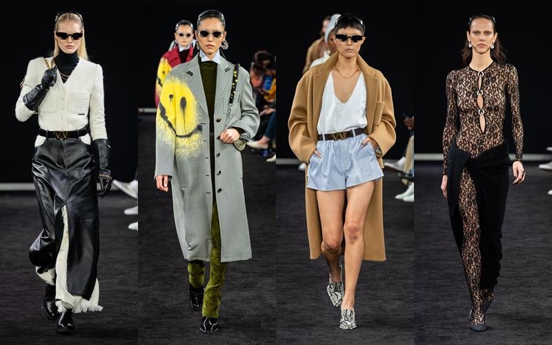 Show diễn cho ra mắt BST Chớm Thu của NTK Alexander Wang tại New York, giới thiệu các thiết kế mới với chất liệu da, jeans và tông màu trung tính làm chủ đạo.