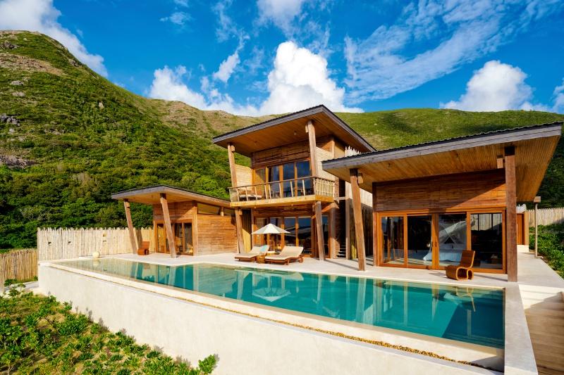 Kiến trúc villa tại Six Senses Côn Đảo.