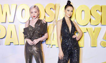 Tóc Tiên và Hoa hậu Phương Khánh đọ dáng với jumpsuit tại dạ tiệc Swoosh Party
