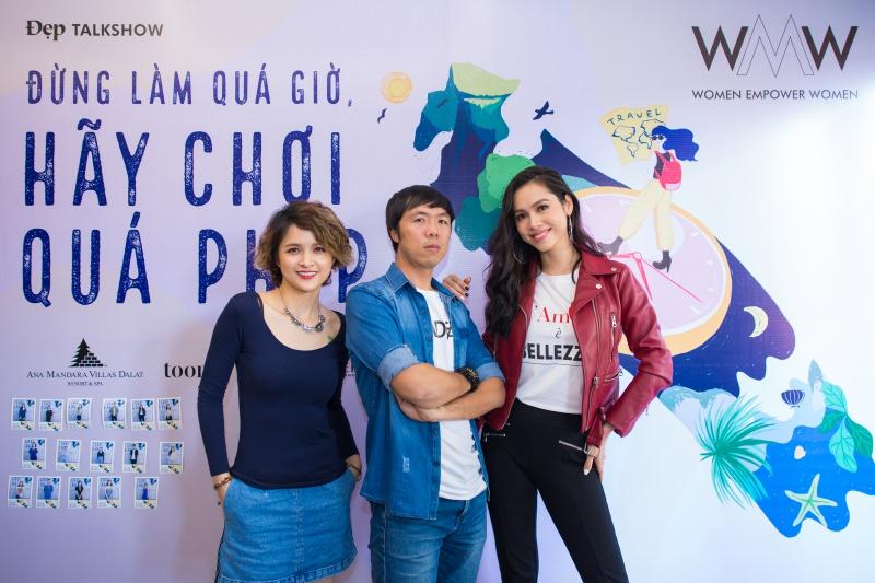 Chuyên viên PR-Marketing kiêm travel blogger Hạc Lê Quyên, Quỷ Cốc Tử và Á hậu Vũ Hoàng My.