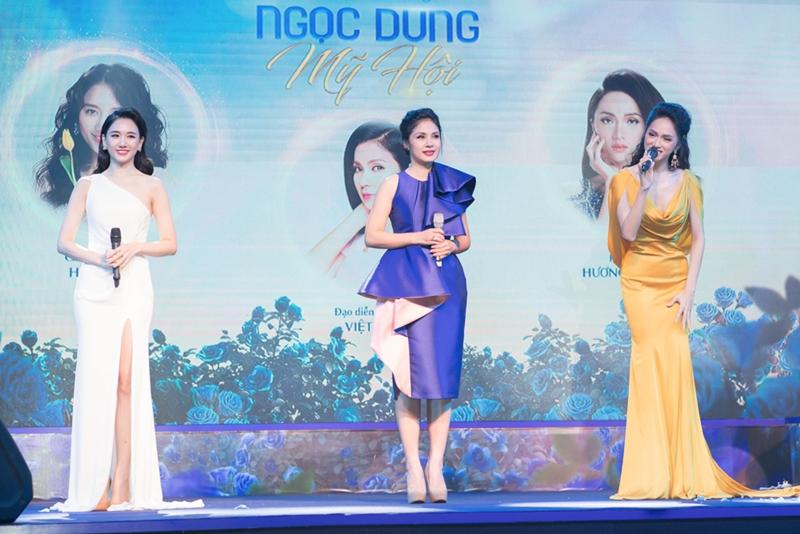 Đại sứ chiến dịch lần này là 3 người đẹp (từ trái qua) Hari Won, Việt Trinh, Hương Giang.