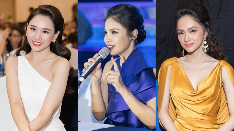 Việt Trinh, Hari Won và Hương Giang hội ngộ tại sự kiện nhan sắc