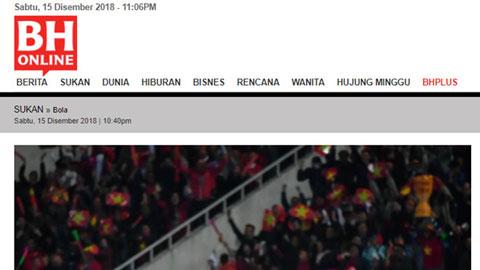 Báo Malaysia ngả mũ trước nhà vô địch Việt Nam