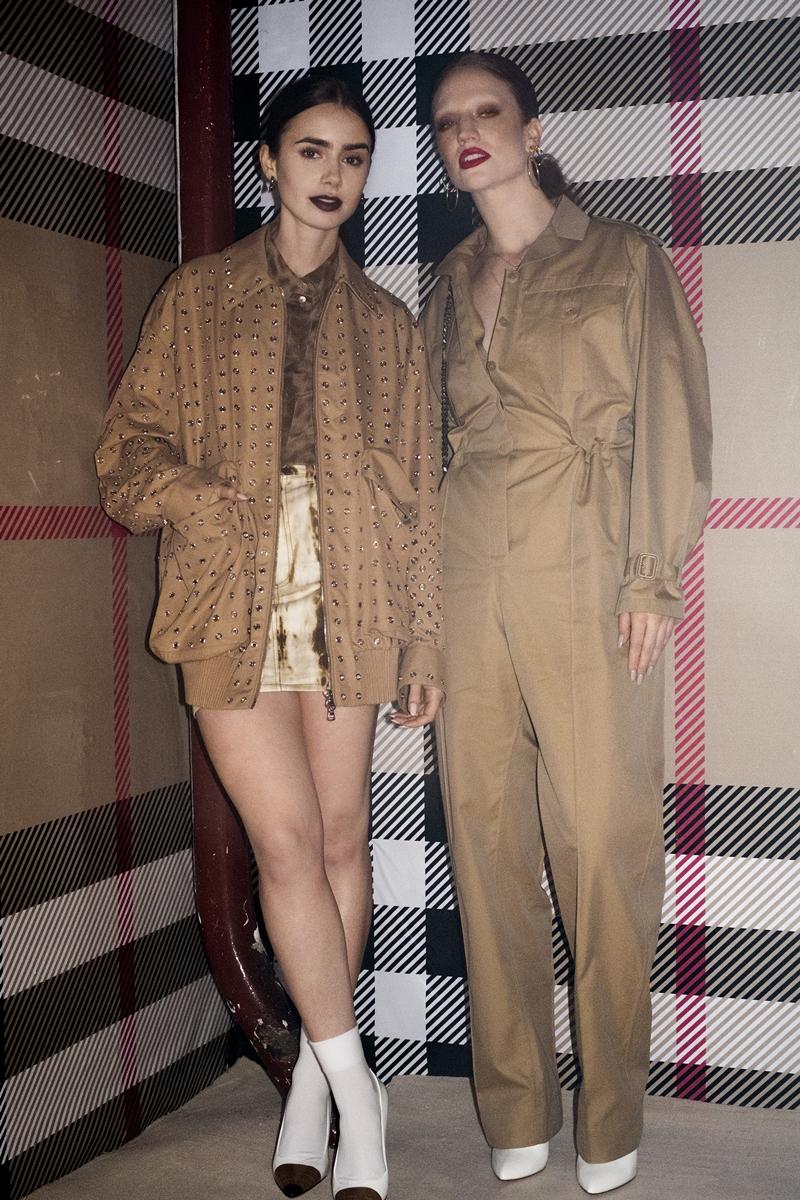 Nữ diễn viên Lily Collins (trái) và ca sĩ Jess Glyne.
