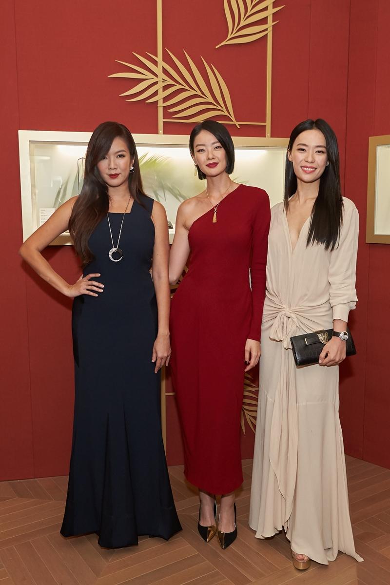 Những diễn viên đình đám của Singapore có mặt tại sự kiện của Cartier còn phải kể đến (từ trái qua) Nhuế Ân, Thẩm Tuệ Di và Lâm Tuệ Linh.