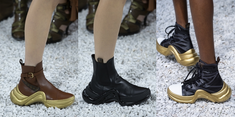 Những thiết kế boots cổ thấp Archlight trong BST Cruise 2019 của Louis Vuitton.