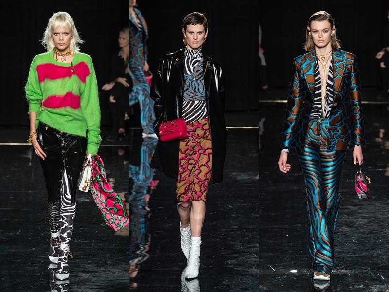 Màu sắc nổi bật cũng là dấu ấn đặc trưng trong những thiết kế của Versace.