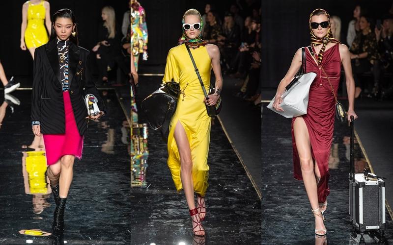 Những quý cô bận rộn với các chuyến đi vòng quanh thế giới vẫn luôn gợi cảm tuyệt đối qua cách nhìn của Versace.
