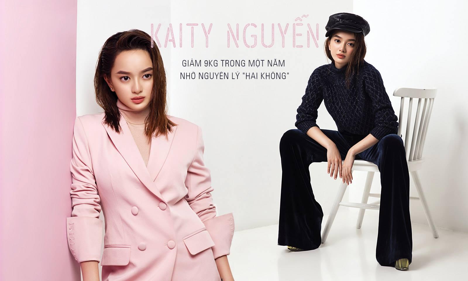 """Kaity Nguyễn giảm 9kg trong một năm nhờ nguyên lý """"hai không"""""""
