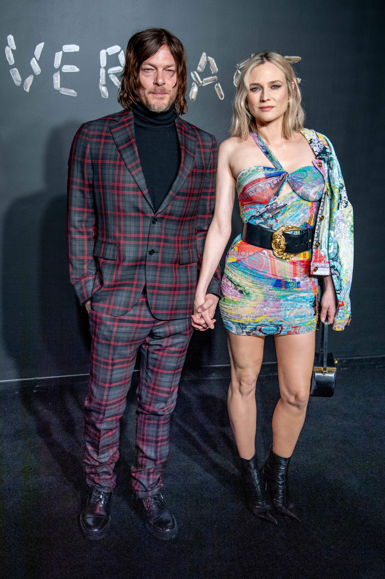 """Diane Kruger tái xuất chỉ sau 1 tháng sinh em bé đầu lòng. Cô tham dự sự kiện cùng bạn trai Norman Reedus - diễn viên trong series phim ăn khách """"The Walking Dead""""."""