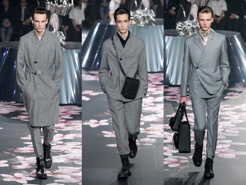 Những thiết kế mang dấu ấn rõ nét của Dior Homme với phom dáng gọn gàng và những đường cắt - may chuẩn xác.