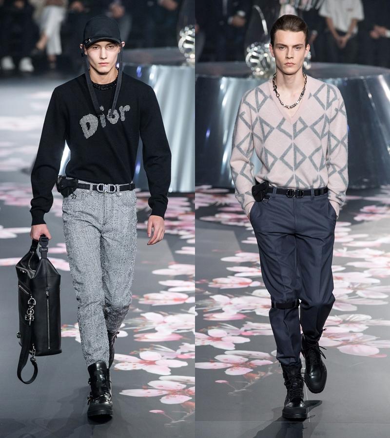 Một số biến thể trong logo trên các thiết kế mùa này của Dior Homme.