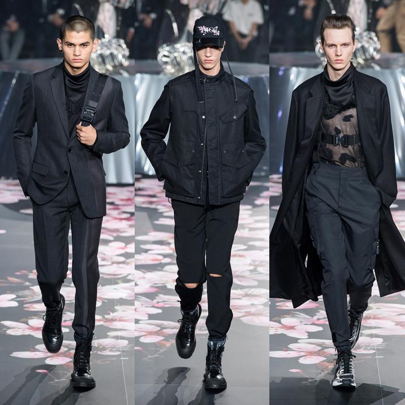 Tông màu đen thanh lịch vẫn không bao giờ lỗi mốt. Hơn thế, cách thể hiện của NTK Kim Jones trên các sáng tạo cho Dior Homme mang đến những gợi ý hoàn hảo cho bất kỳ mùa mốt nào.