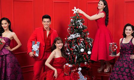 """Dàn sao """"Gái già lắm chiêu 2"""" lên đồ rực rỡ đón Giáng sinh"""
