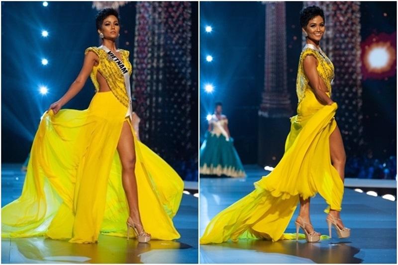 Màn xoay váy ấn tượng cùng thần thái đỉnh cao giúp H'Hen chiếm trọn spotlight buổi thi.