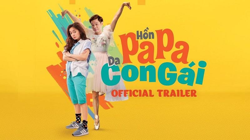 """Kaity Nguyễn và Thái Hòa tung hứng trong trailer chính thức của """"Hồn papa da con gái"""""""