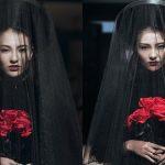 Hồng Quế xuất thần hóa thân thành cô dâu ma, làm vedette trong show NTK Hà Linh Thư