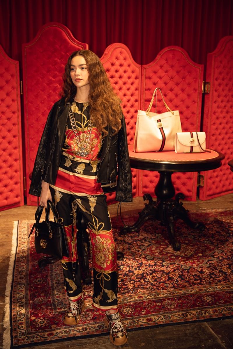 Hồ Ngọc Hà tại buổi ra mắt BST Xuân Hè 2019 của Gucci ở Thượng Hải.