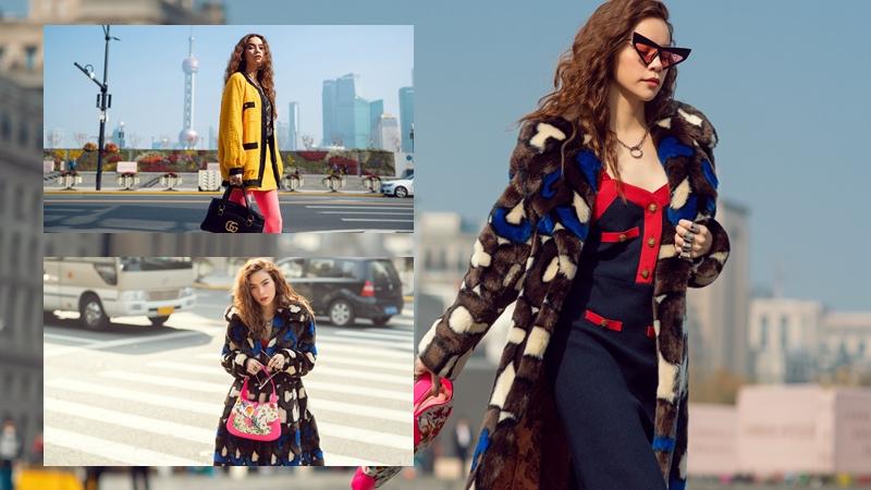 """Hồ Ngọc Hà thả dáng bên Bến Thượng Hải trong chiếc áo lông """"đắt giá"""" 215 triệu đồng của Gucci"""