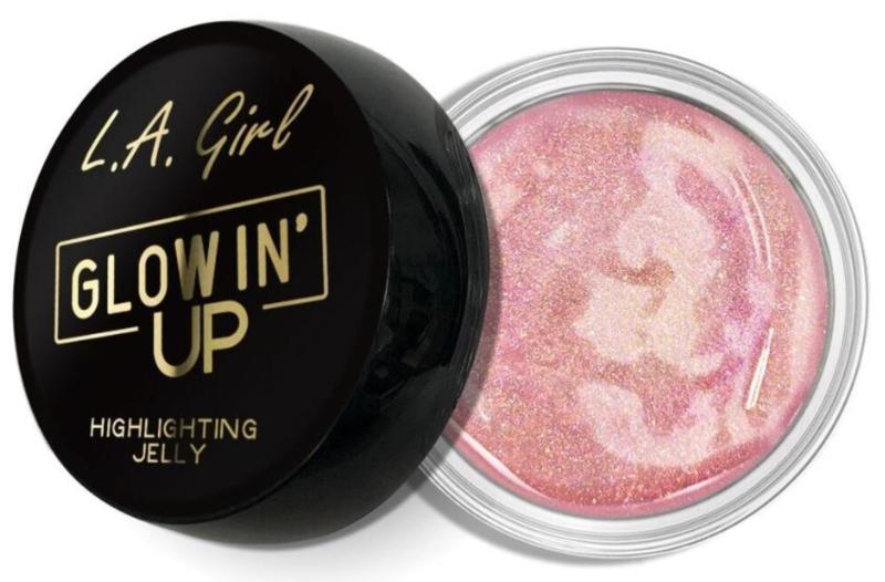 L.A. Girl Glowin' Up Highlighting Jelly: Sản phẩm mang lại vẻ căng mọng cho làn da nhờ kết cấu dạng thạch gốc nước ẩm mượt. Bảng màu 8 tông đa dạng hơn so với các dòng sản phẩm bắt sáng dạng thạch khác