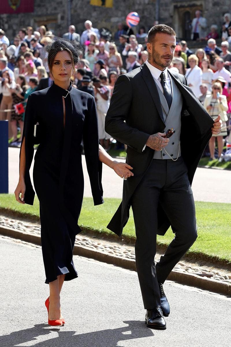 NTK Victoria Beckham cùng chồng David Beckham tới dự đám cưới hoàng gia của Hoàng tử Harry và Meghan Markle.