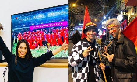 """Muôn vàn kiểu """"đi bão"""" của sao Việt: người đi siêu xe, kẻ """"quẫy"""" hết mình với cờ đỏ sao vàng"""