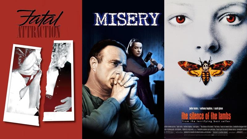 """""""Fatal Attraction"""", """"Misery"""" và nhất là """"The Silence of the Lambs"""" đều được xếp vào hạng phim giật gân, thay vì kinh dị và đã đoạt giải Oscar."""