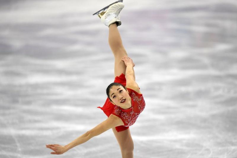 """Mirai Nagasu đã đi vào lịch sử Olympic mùa Đông 2018 với cú """"triple axel"""" tuyệt mỹ."""