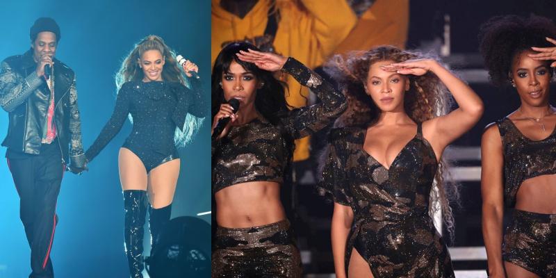 Beyonce trình diễn cùng các thành viên Destiny's Child và song ca ngẫu hứng cùng vị hôn phu.