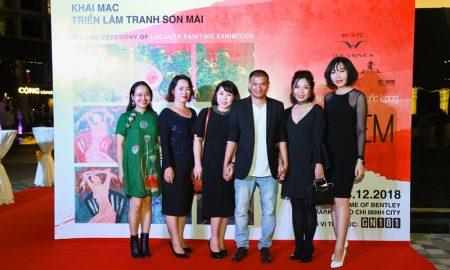 Họa sĩ Trần Quốc Long triển lãm hơn 30 tác phẩm sơn mài được hoàn thiện trong năm 2018