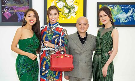 NTK Cao Minh Tiến lấn sân hội họa thủ đô với triển lãm hơn 100 bức tranh trừu tượng