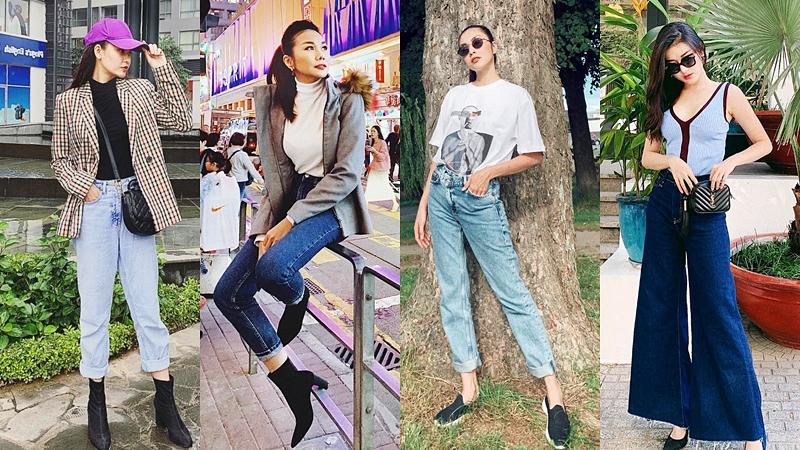 """Quần jeans, blazer đổ bộ """"sàn diễn street style"""" của dàn sao Việt tuần qua"""