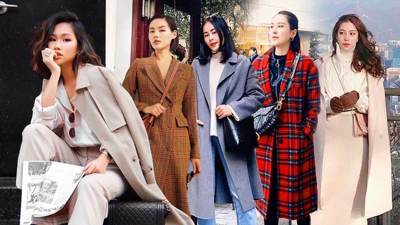 """Đại hàn, quý cô thời trang Việt """"say đắm"""" áo khoác dáng dài, trổ tài mix đồ đẹp ngất ngây"""