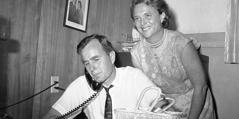 Barbara tuyên bố Bush là chàng trai đầu tiên bà hôn.