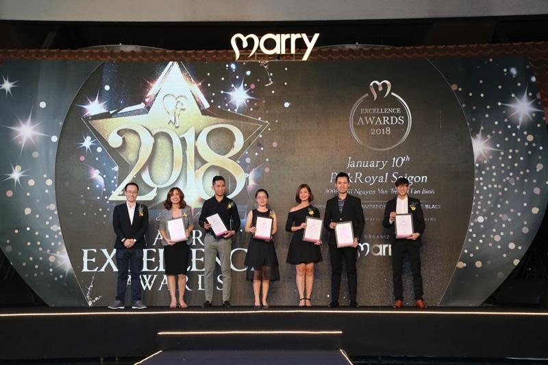 Marry Excellence Awards 2018 vinh danh nhà cung cấp dịch vụ cưới xuất sắc nhất