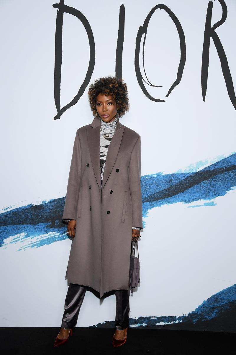 Có mặt tại show diễn Thu Đông 2019 của Dior là các gương mặt nổi bật trong làng thời trang và giải trí quốc tế như siêu mẫu Naomi Campbell.