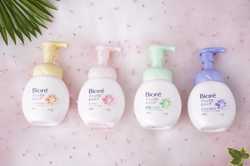 Dòng Bioré Marshmallow gồm bốn sản phẩm dành riêng cho bốn nhu cầu chăm sóc da phổ biến nhất.
