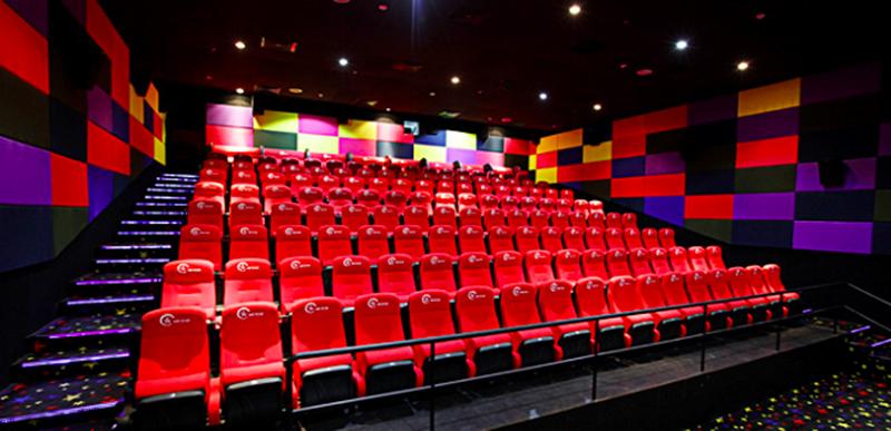Phòng chiếu với hệ thống âm thanh chất lượng của Cinestar.