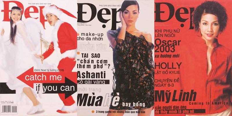 Đẹp của những năm 2003, Hồ Ngọc Hà và Mỹ Linh là những nghệ sĩ đã đồng hành cùng Đẹp từ những năm đầu tiên.