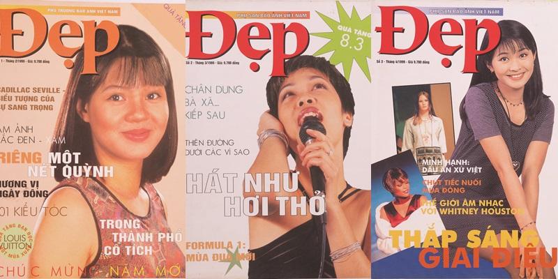 """Đẹp số 1-2-3 của những năm 1999 chập chững bước vào """"đời"""" với gương mặt ảnh bìa đầu tiên là Biên tập viên, MC Diễm Quỳnh (trái)."""